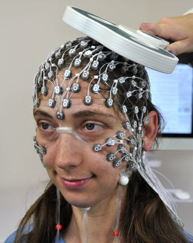 Low profile EEG sensor application