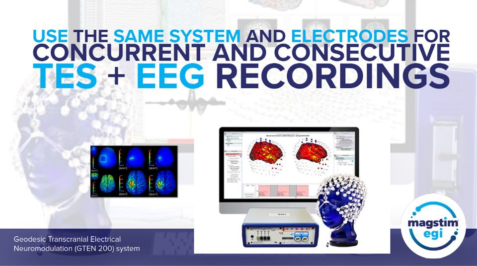 Use the same system and electrodes for concurrent and consecutive TES + EEG recordings
